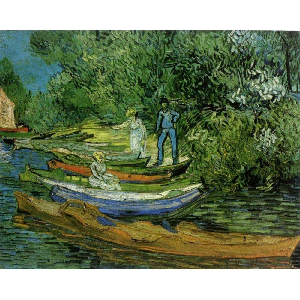 DIY Paint by Number kit for Adults on Canvas-Bank of the Oise at Auvers - Van Gogh - 1890-