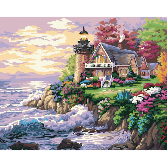 DIY Paint by Number kit for Adults on Canvas-Beacon of Hope Lighthouse-40x50cm (16x20inches)