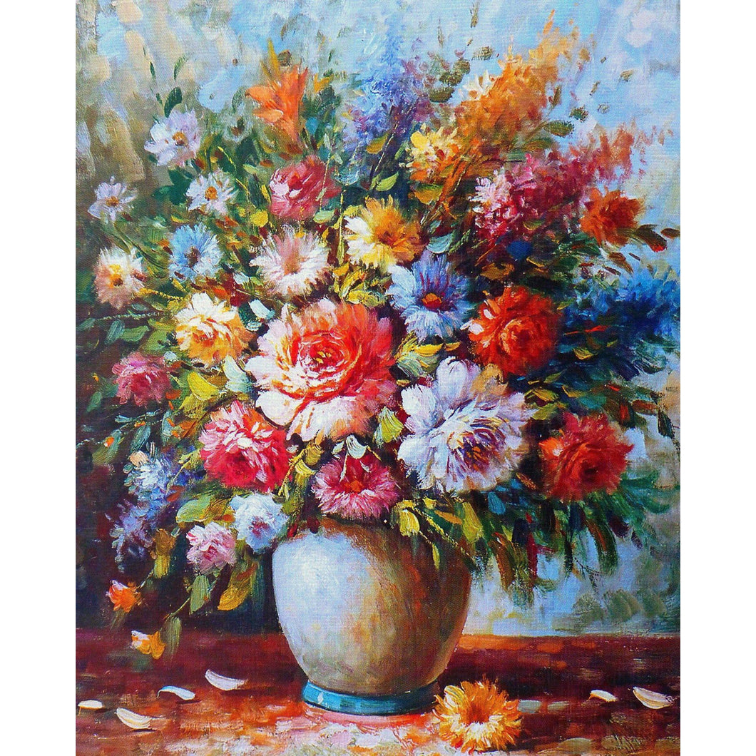 DIY Paint by Number kit for Adults on Canvas-Beautiful Bouquet of Flowers-Home