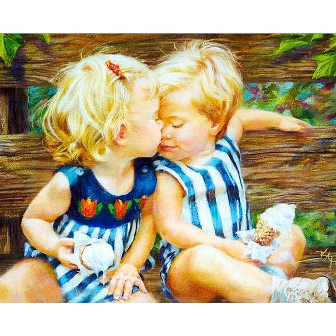 DIY Paint by Number kit for Adults on Canvas-Best Friends Forever-40x50cm (16x20inches)