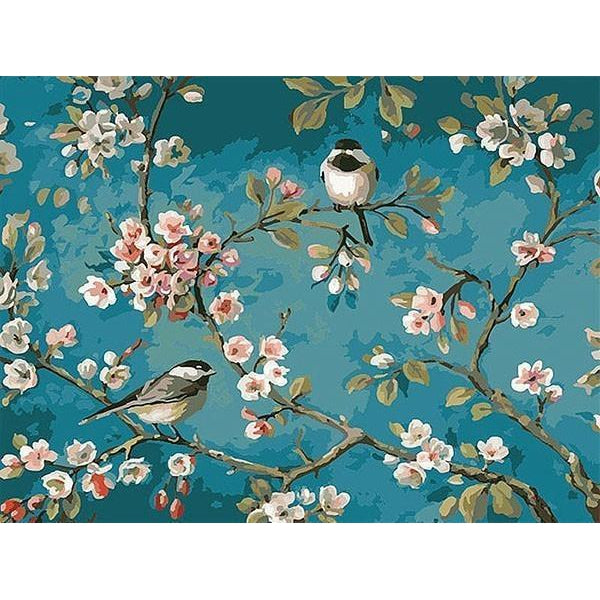 DIY Paint by Number kit for Adults on Canvas-Birds on Branches [LIMITED PRINT]-40x50cm (16x20inches)