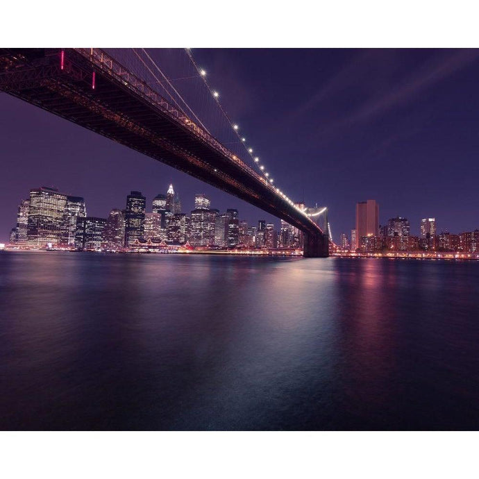 DIY Paint by Number kit for Adults on Canvas-Brooklyn Bridge-Clean PBN
