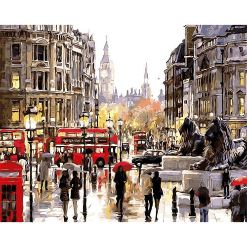 Busy Day In London - Paint by Numbers Kit
