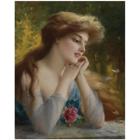 DIY Paint by Number kit for Adults on Canvas-Butterflies of Love - Emile Vernon - 1911-Painting & Calligraphy