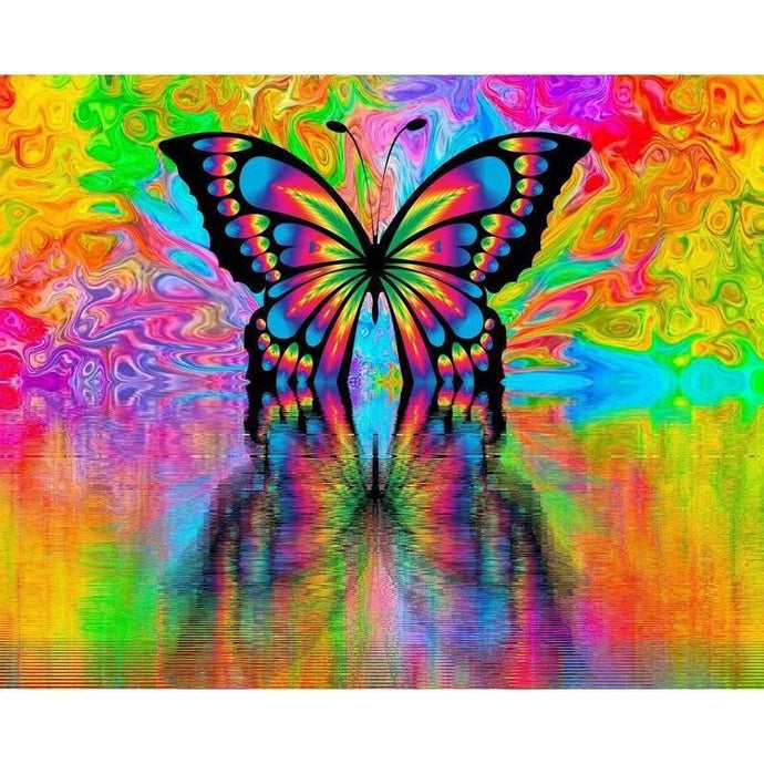DIY Paint by Number kit for Adults on Canvas-Butterfly Prism-Painting & Calligraphy