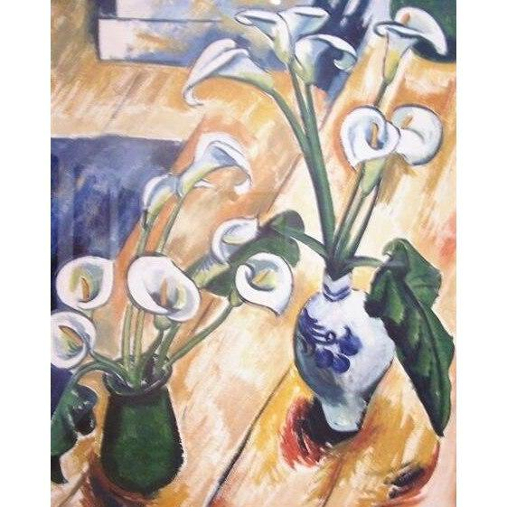 DIY Paint by Number kit for Adults on Canvas-Calla Lilies - Max Pechstein - 1914-