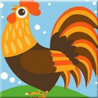 DIY Paint by Number kit for Adults on Canvas-Chicken Pal - [Tiny Print]-Painting & Calligraphy