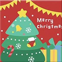 DIY Paint by Number kit for Adults on Canvas-Christmas Tree - [Tiny Print]-20x20cm (8x8inches)
