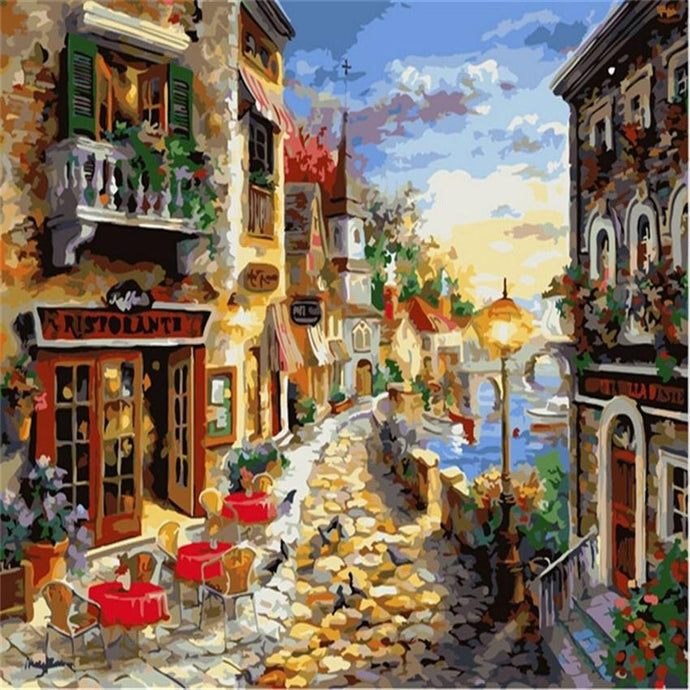 Cobblestone on the Coast - Paint by Numbers Kit
