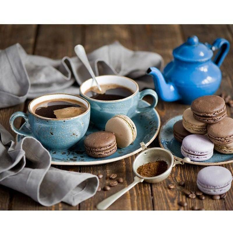 DIY Paint by Number kit for Adults on Canvas-Coffee and Macaroons-40x50cm (16x20inches)