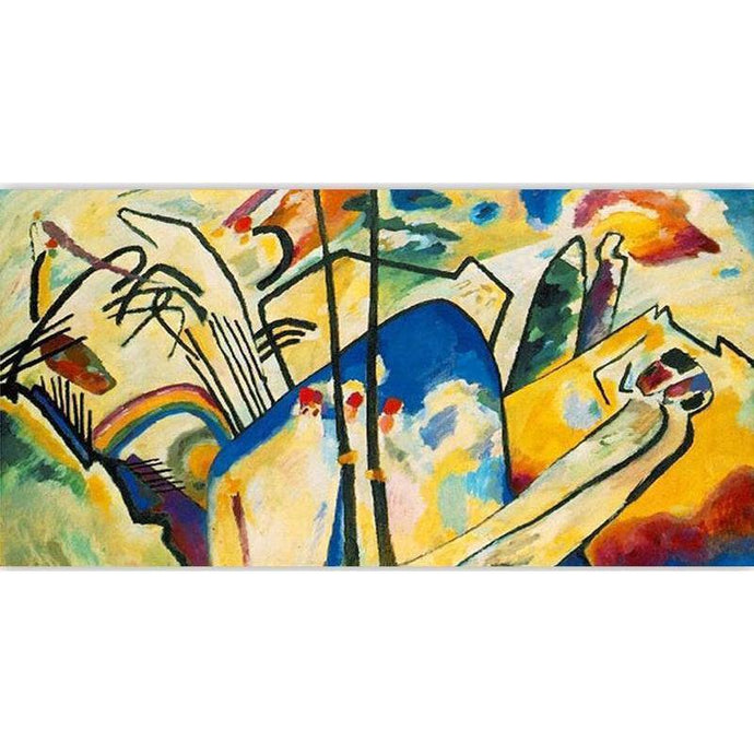 DIY Paint by Number kit for Adults on Canvas-Composition IV - Wassily Kandinsky-Clean PBN