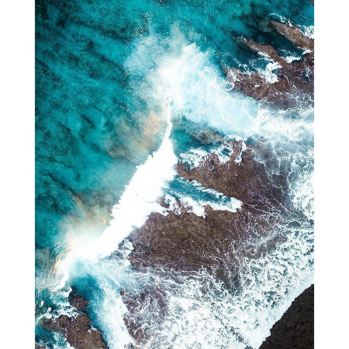 DIY Paint by Number kit for Adults on Canvas-Crashing Waves-Clean PBN
