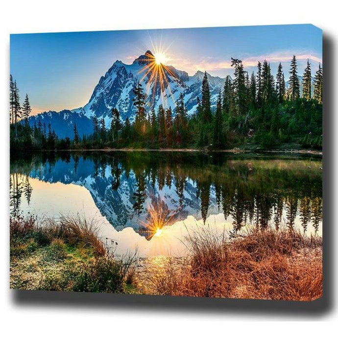 DIY Paint by Number kit for Adults on Canvas-Crystal Mountain-40x50cm (16x20inches)