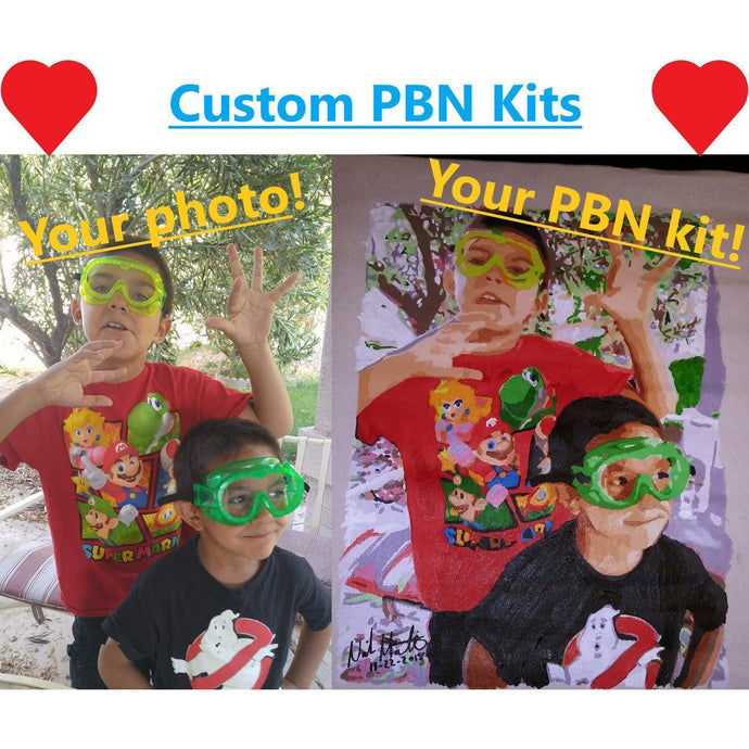 DIY Paint by Number kit for Adults on Canvas-Custom Paint by Number Kit-Clean PBN