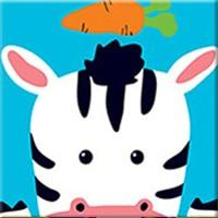 DIY Paint by Number kit for Adults on Canvas-Cute Cow - [Tiny Print]-20x20cm (8x8inches)