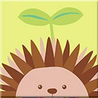 DIY Paint by Number kit for Adults on Canvas-Cute Hedgehog - [Tiny Print]-20x20cm (8x8inches)