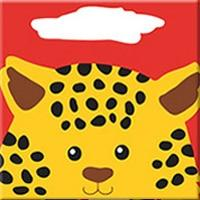 DIY Paint by Number kit for Adults on Canvas-Cute Leopard - [Tiny Print]-20x20cm (8x8inches)