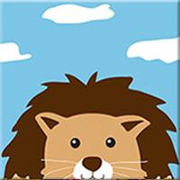 DIY Paint by Number kit for Adults on Canvas-Cute Lion - [Tiny Print]-20x20cm (8x8inches)