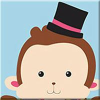 Cute Monkey - [Tiny Print] - Paint by Numbers Kit
