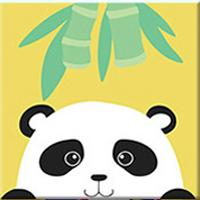 DIY Paint by Number kit for Adults on Canvas-Cute Panda - [Tiny Print]-20x20cm (8x8inches)