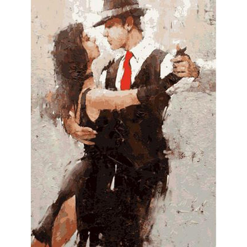 DIY Paint by Number kit for Adults on Canvas-Dancing Salsa Couple-40x50cm (16x20inches)