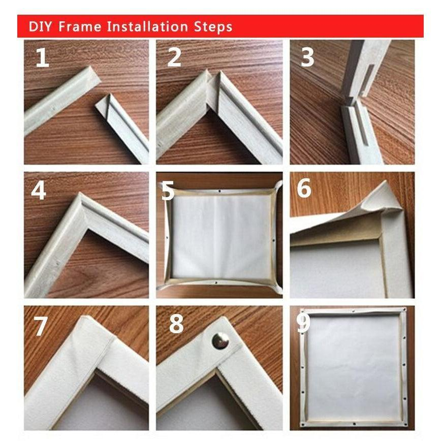 Diy Frame Kit Stretcher Bars My Paint By Numbers