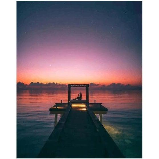 Dock at Dawn - Paint by Numbers Kit