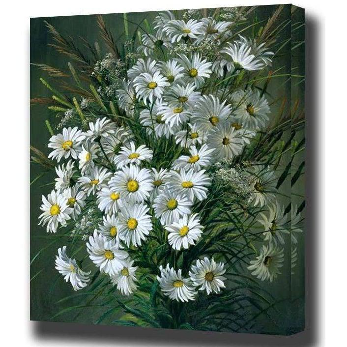 DIY Paint by Number kit for Adults on Canvas-Dollop of Daisies-40x50cm (16x20inches)