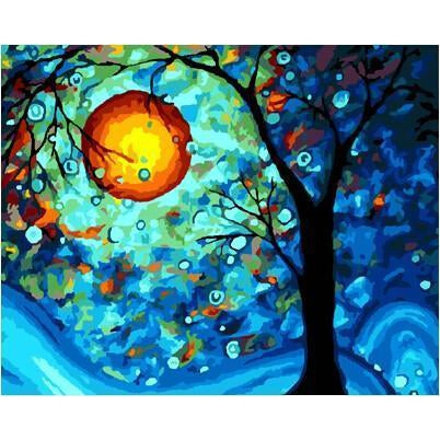 DIY Paint by Number kit for Adults on Canvas-Dream Tree - Van Gogh [LIMITED PRINT]-40x50cm (16x20inches)