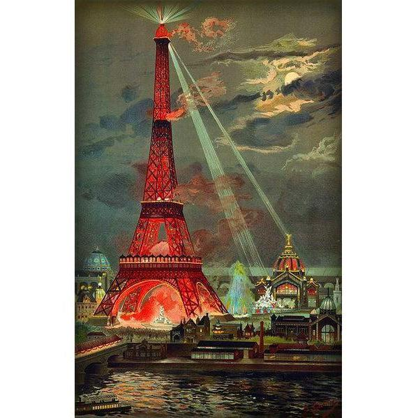 DIY Paint by Number kit for Adults on Canvas-Eiffel Tower - Georges Garen - 1889-Paint By Number