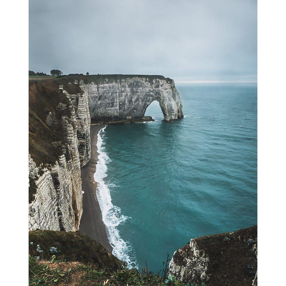DIY Paint by Number kit for Adults on Canvas-Etretat-Clean PBN