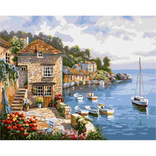 DIY Paint by Number kit for Adults on Canvas-European Countryside Vacation-40x50cm (16x20inches)
