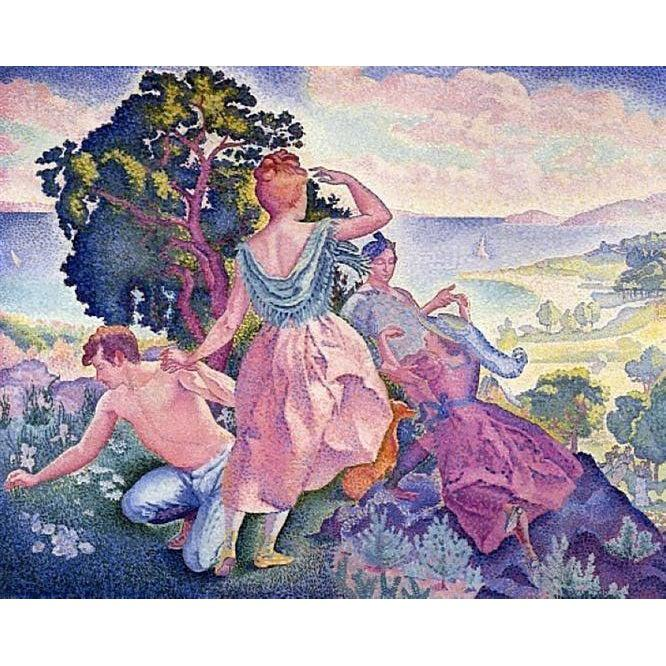 DIY Paint by Number kit for Adults on Canvas-Excusion - Henri-Edmond Cross-Home