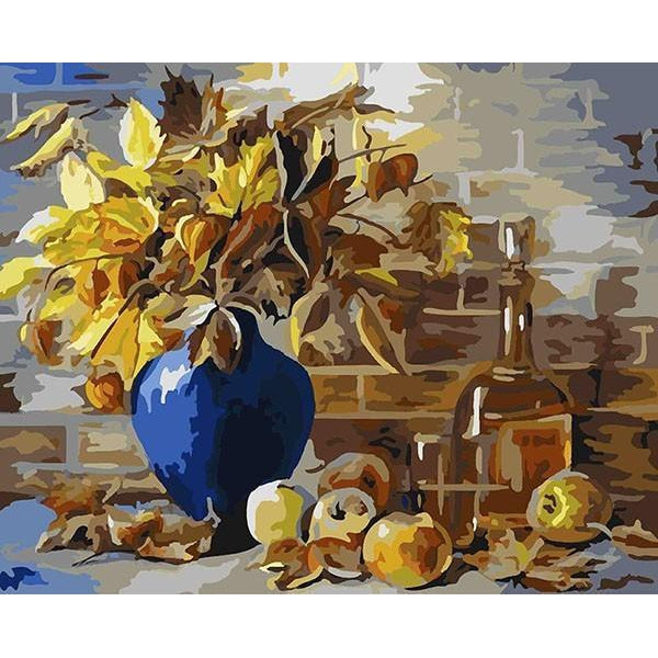 DIY Paint by Number kit for Adults on Canvas-Fall Harvest-40x50cm (16x20inches)