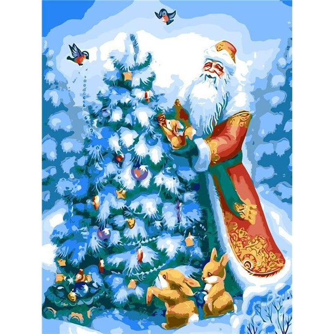 DIY Paint by Number kit for Adults on Canvas-Father Christmas-40x50cm (16x20inches)