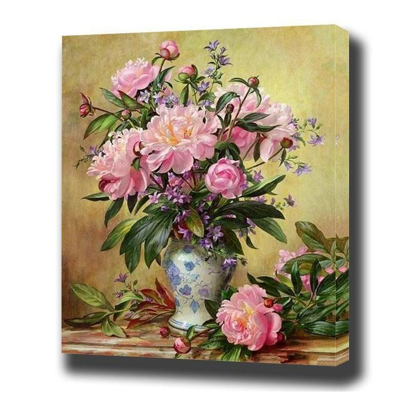 DIY Paint by Number kit for Adults on Canvas-Floral Array-40x50cm (16x20inches)