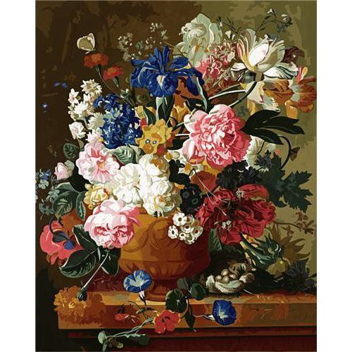 DIY Paint by Number kit for Adults on Canvas-Flowers in a Vase - Paulus Theodorus-Clean PBN