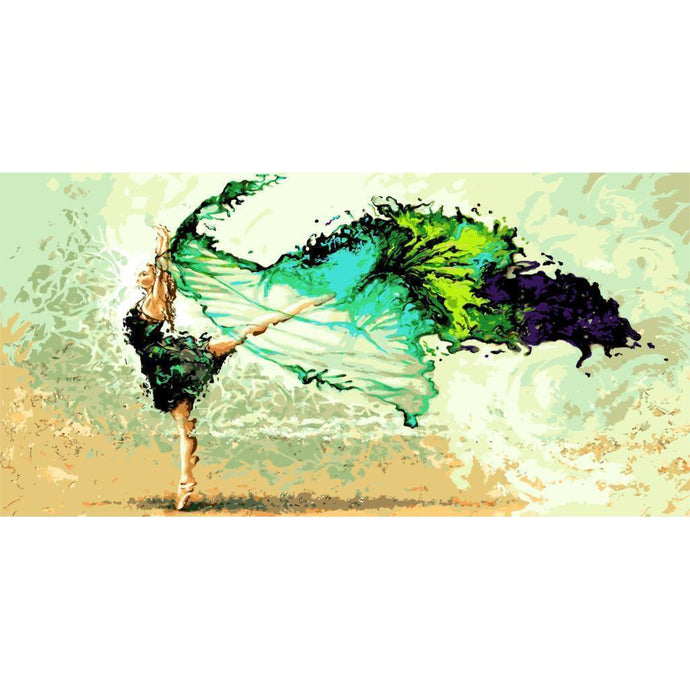 DIY Paint by Number kit for Adults on Canvas-Flowing Dancer [EXTRA Large Print]-50x100cm (20x40inches)