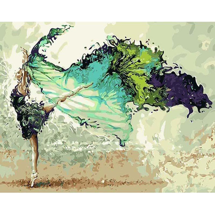DIY Paint by Number kit for Adults on Canvas-Flowing Dancer [LIMITED PRINT]-40x50cm (16x20inches)