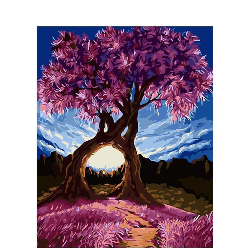 DIY Paint by Number kit for Adults on Canvas-Forever Together-40x50cm (16x20inches)