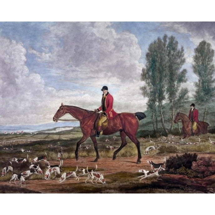 DIY Paint by Number kit for Adults on Canvas-Fox Hunting Hounds - Richard Davis - 1815-Clean PBN