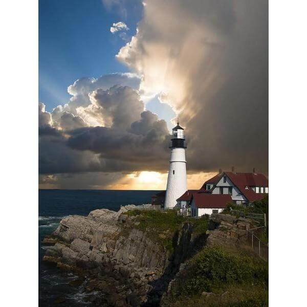 DIY Paint by Number kit for Adults on Canvas-*FREE* Lone Lighthouse-Home