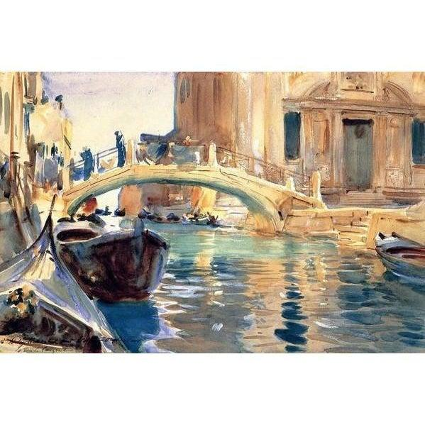 DIY Paint by Number kit for Adults on Canvas-*FREE* Venice - John Singer Sargent-Home