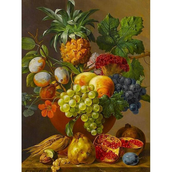 DIY Paint by Number kit for Adults on Canvas-Fruit Basket-40x50cm (16x20inches)