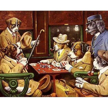 DIY Paint by Number kit for Adults on Canvas-His Station and Four Aces - Cassius Marcellus Coolidge - 1903-Paint By Number