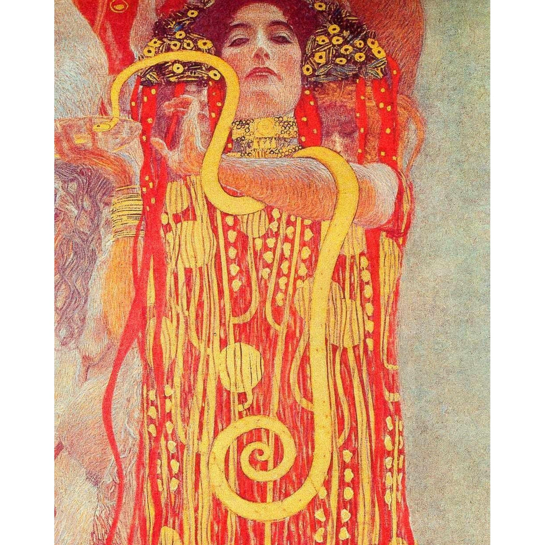 DIY Paint by Number kit for Adults on Canvas-Hygeia - Gustav Klimt - 1907-Paint By Number