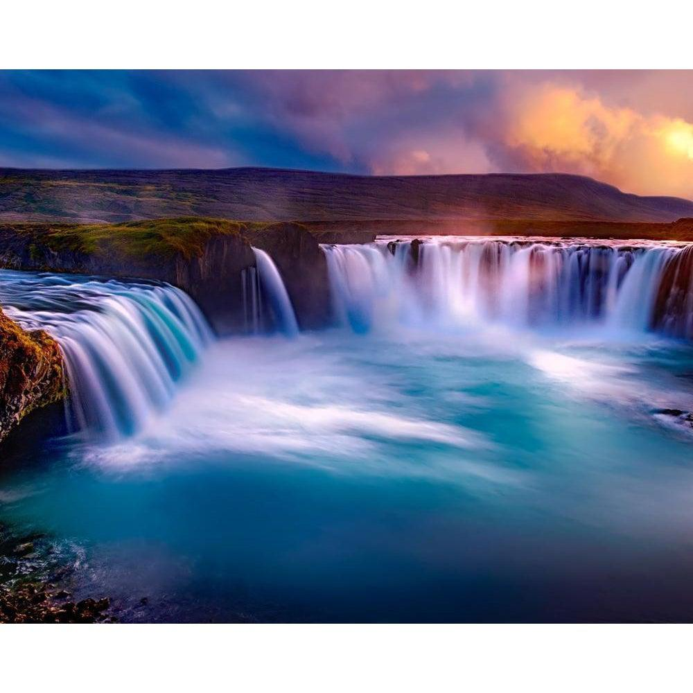 Iceland Waterfalls - Godafoss - Paint by Numbers Kit