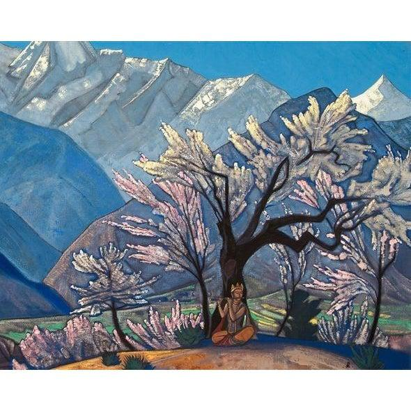 DIY Paint by Number kit for Adults on Canvas-Krishna Spring in Kulu - Nicholas Roerich - 1930-