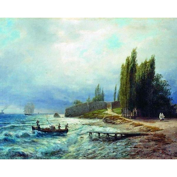 DIY Paint by Number kit for Adults on Canvas-Landscape - Lev Lagorio - 1871-