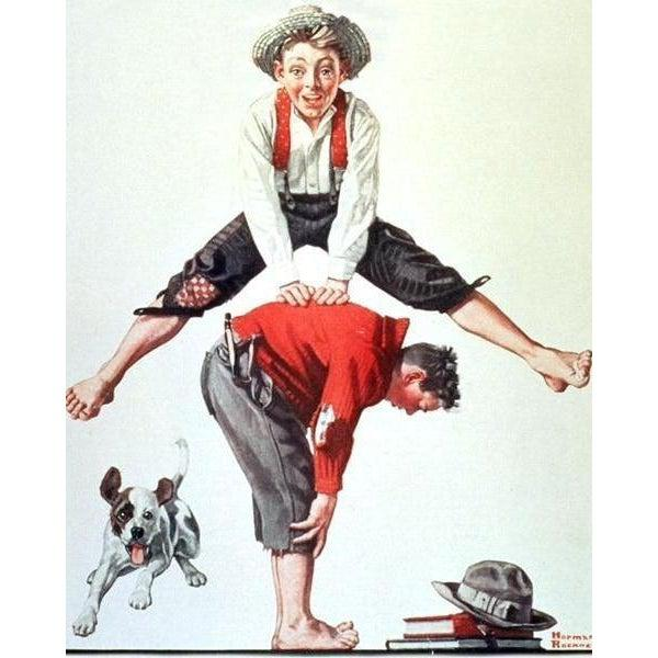 DIY Paint by Number kit for Adults on Canvas-Leap - Norman Rockwell - 1919-Home